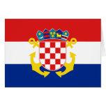 Bandera naval de Croacia, Croacia Tarjetas