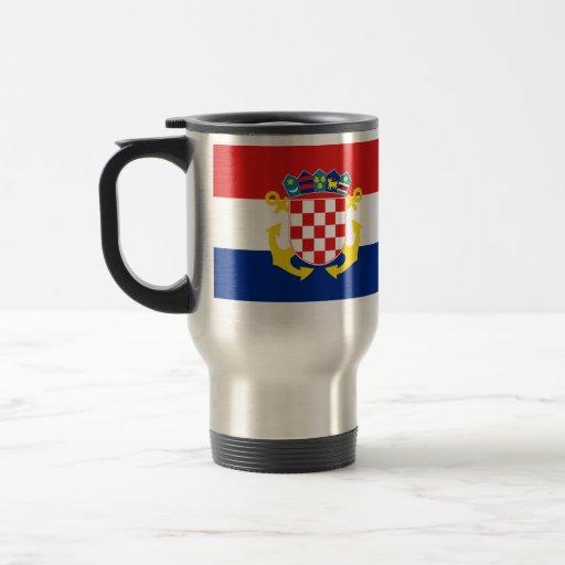 Bandera naval de Croacia, Croacia Taza De Café