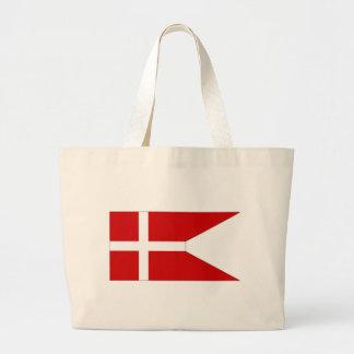 Bandera naval de Dinamarca Bolsas Lienzo