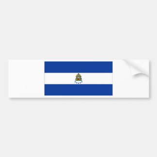 Bandera naval de Honduras Etiqueta De Parachoque