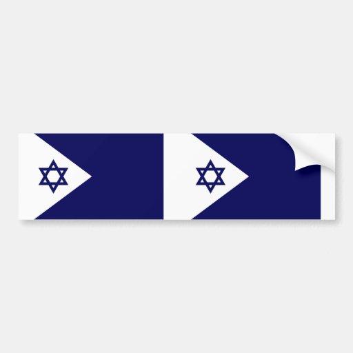 Bandera naval de Israel, Israel Pegatina Para Auto