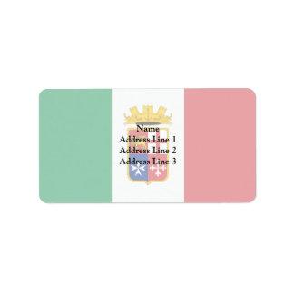 Bandera naval de Italia, Italia Etiquetas De Dirección