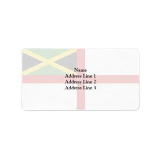Bandera naval de Jamaica, Italia Etiquetas De Dirección