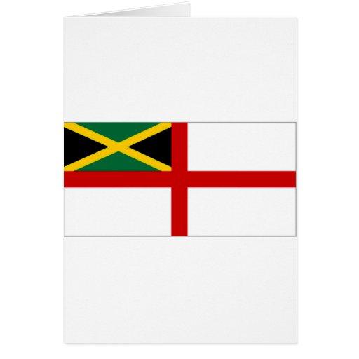 Bandera naval de Jamaica Tarjeta De Felicitación
