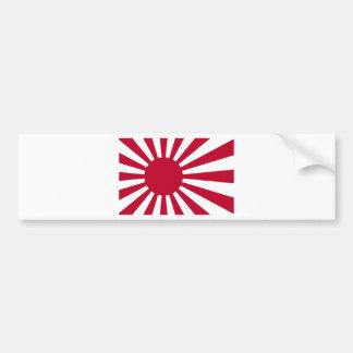 Bandera naval de Japón - bandera japonesa del sol Pegatina Para Auto