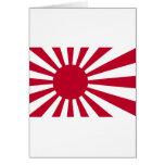 Bandera naval de Japón - bandera japonesa del sol Tarjeta De Felicitación