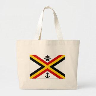 Bandera naval de la bandera de Bélgica Bolsa Lienzo