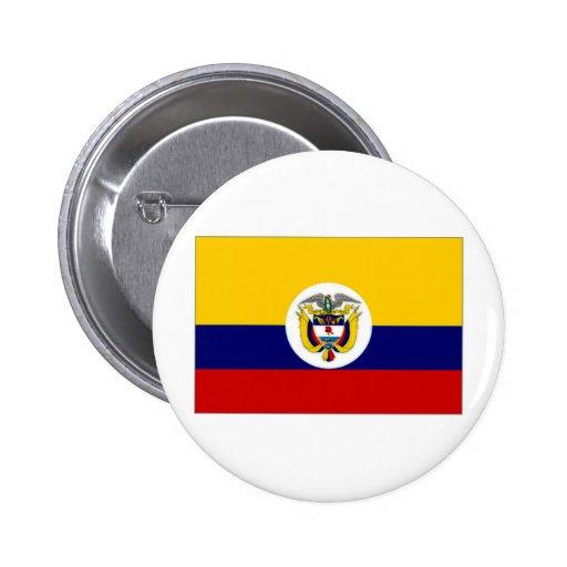 Bandera naval de la bandera de Colombia Pin