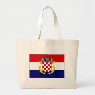 Bandera naval de la bandera de Croacia Bolsa De Mano