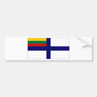 Bandera naval de la bandera de Lituania Pegatina De Parachoque
