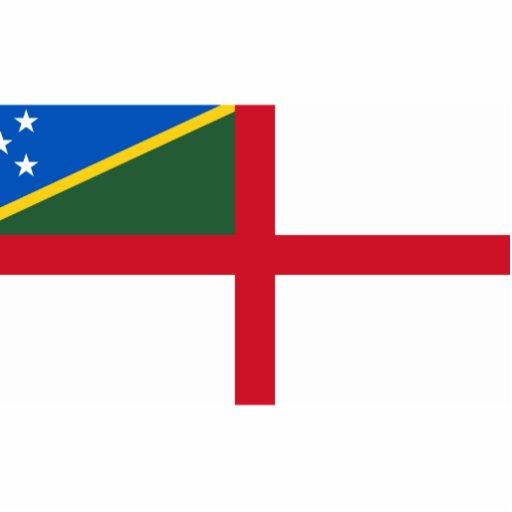 Bandera naval de los Solomon Island, Solomon Islan Escultura Fotográfica