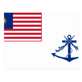 Bandera naval de Malasia, Malasia Postales