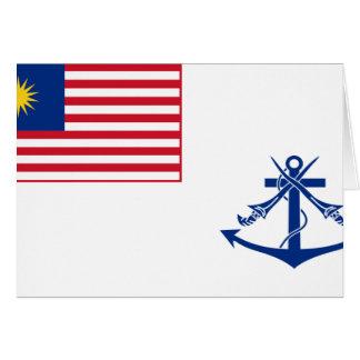 Bandera naval de Malasia, Malasia Tarjeta De Felicitación