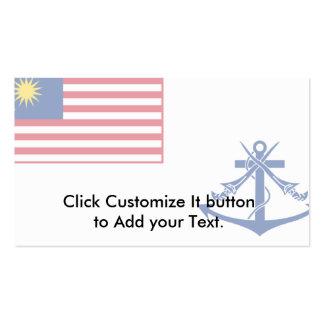 Bandera naval de Malasia, Malasia Tarjetas De Visita