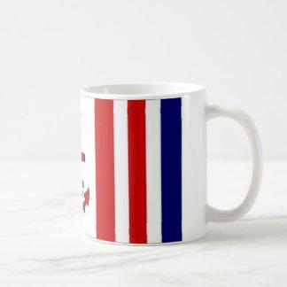 Bandera naval de Mauricio Tazas De Café