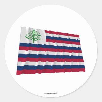 Bandera naval de Nueva Inglaterra Etiqueta Redonda