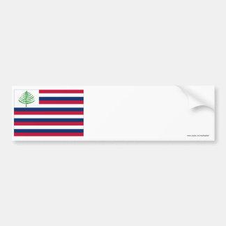 Bandera naval de Nueva Inglaterra Pegatina Para Auto