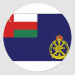 Bandera naval de Omán Pegatina Redonda