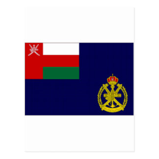 Bandera naval de Omán Tarjetas Postales