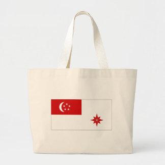 Bandera naval de Singapur Bolsas De Mano