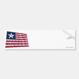 Bandera naval de Tejas Etiqueta De Parachoque