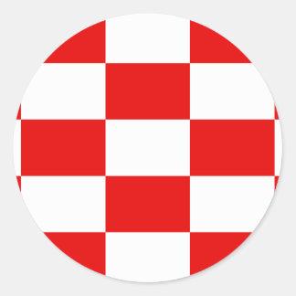 Bandera naval del estado independiente de Croacia, Pegatina Redonda