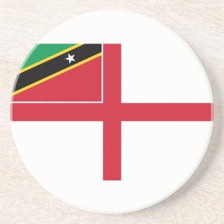 Bandera naval del santo San Cristobal y Nevis Rus Posavasos Para Bebidas