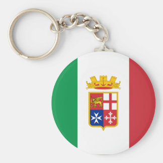 Bandera naval Italia, Italia Llavero Redondo Tipo Pin