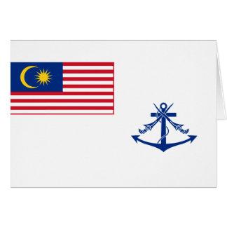 Bandera naval Malasia, Malasia Tarjeta De Felicitación