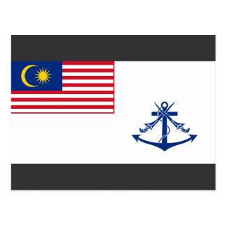 Bandera naval Malasia, Malasia Tarjeta Postal