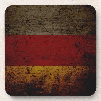 Bandera negra 2 de Alemania del Grunge Posavasos