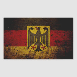 Bandera negra de Alemania del Grunge Pegatina Rectangular