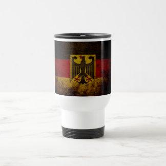 Bandera negra de Alemania del Grunge Taza De Viaje De Acero Inoxidable