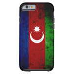 Bandera negra de Azerbaijan del Grunge Funda De iPhone 6 Tough