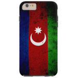 Bandera negra de Azerbaijan del Grunge Funda De iPhone 6 Plus Tough