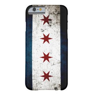 Bandera negra de Chicago del Grunge Funda De iPhone 6 Barely There