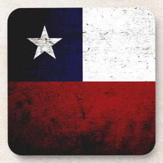 Bandera negra de Chile del Grunge Posavasos