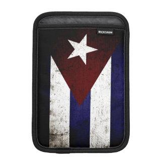 Bandera negra de Cuba del Grunge Fundas Para iPad Mini