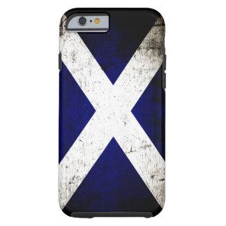 Bandera negra de Escocia del Grunge Funda De iPhone 6 Tough