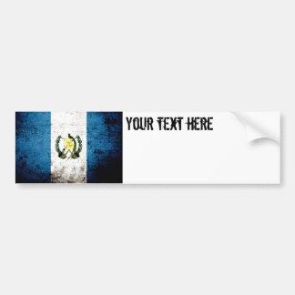 Bandera negra de Guatemala del Grunge Pegatina Para Auto