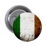 Bandera negra de Irlanda del Grunge Pins