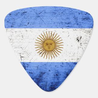 Bandera negra de la Argentina del Grunge Púa De Guitarra