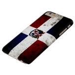 Bandera negra de la República Dominicana del Funda De iPhone 6 Plus Barely There