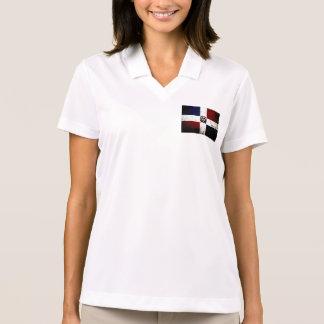 Bandera negra de la República Dominicana del Polo T-shirt