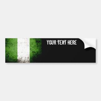 Bandera negra de Nigeria del Grunge Pegatina Para Auto