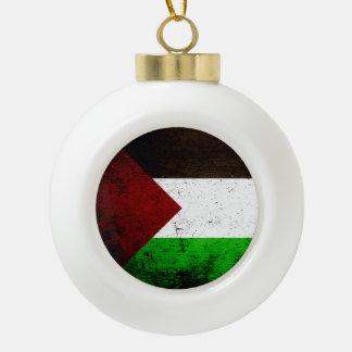 Bandera negra de Palestina del Grunge Adorno