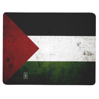 Bandera negra de Palestina del Grunge Cuaderno Grapado