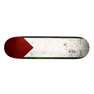 Bandera negra de Palestina del Grunge Patín