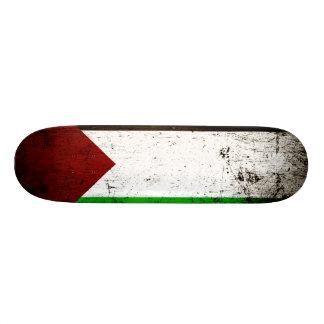Bandera negra de Palestina del Grunge Patín Personalizado