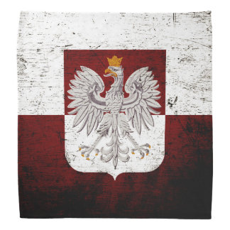 Bandera negra de Polonia del Grunge Bandanas
